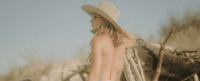 Cowgirl looking at the horizon